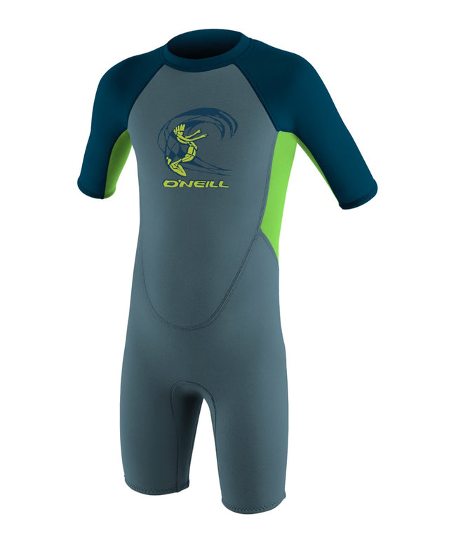 Reactor Toddler Springsuit Wetsuit - Dusty Blue/Dayglow