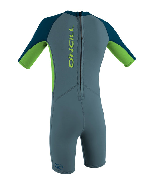 Reactor Toddler Spring Wetsuit - Dusty Blue/Dayglow