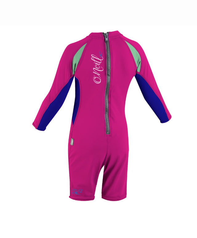 Toddler Ozone Long Sleeve Rash Suit - Foxpink/Cobalt/Mint