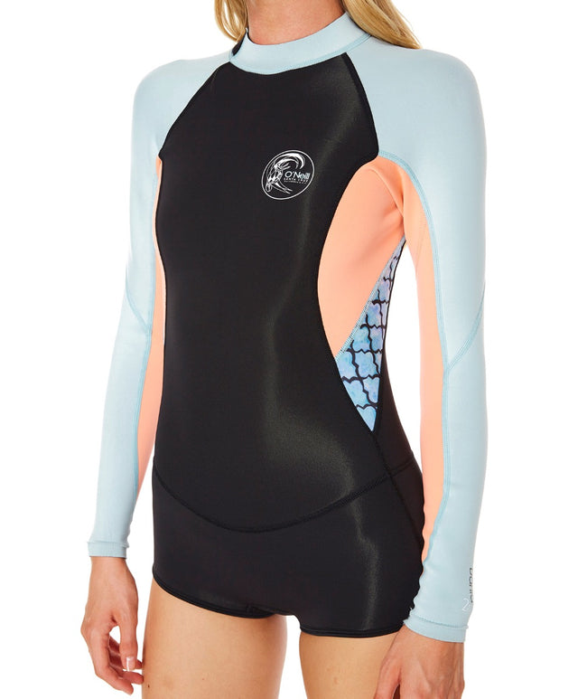 Womens Bahia LS Spring 2mm - Kh3 Blk/Wtr/Ltgf/Sea