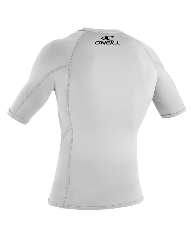 Kids Basic Skins Short Sleeve Rash Vest - White