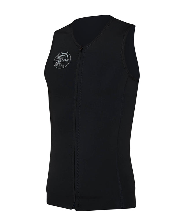 O'Riginal Zip Through Sleeveless Wetsuit Vest - Black