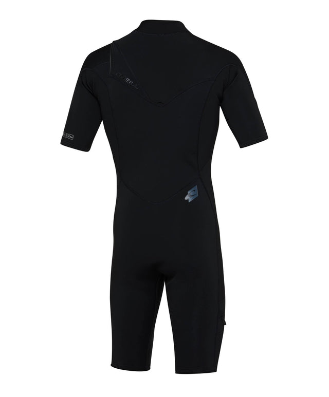 Superfreak 2mm Short Sleeve Springsuit Chest Zip Wetsuit - Black