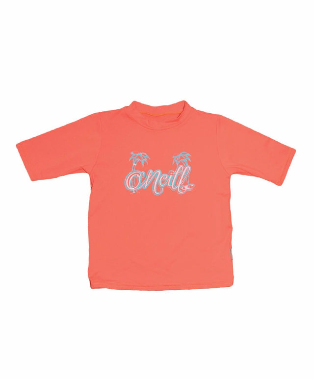 Girls Toddler Skins Short Arm Rashie Tee - Papaya