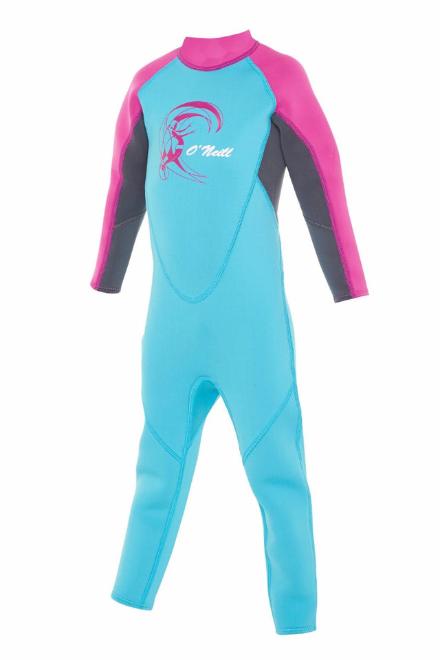 Toddler Reactor II Full 2mm Steamer Wetsuit - Aqua/Graphite/Berry