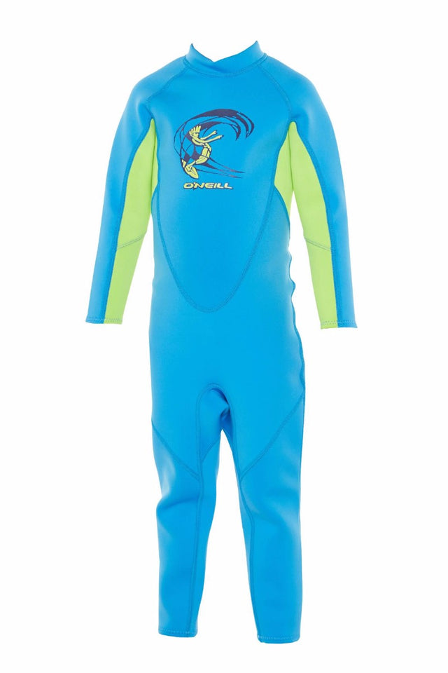 Toddler Reactor II Full 2mm Steamer Wetsuit - Blue/Dayglo/Blue