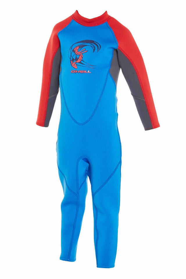 Toddler Reactor II Full 2mm Steamer Wetsuit - Ocean/Graphite/Red