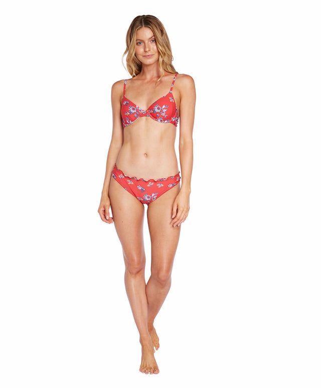 Rapture Bikini Bottom - Red Floral