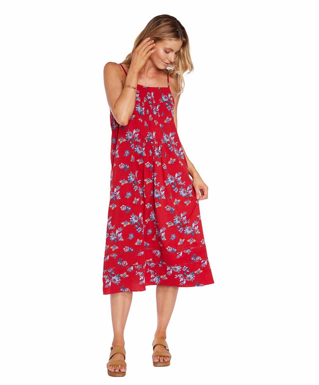 Friday Dress - Red Floral