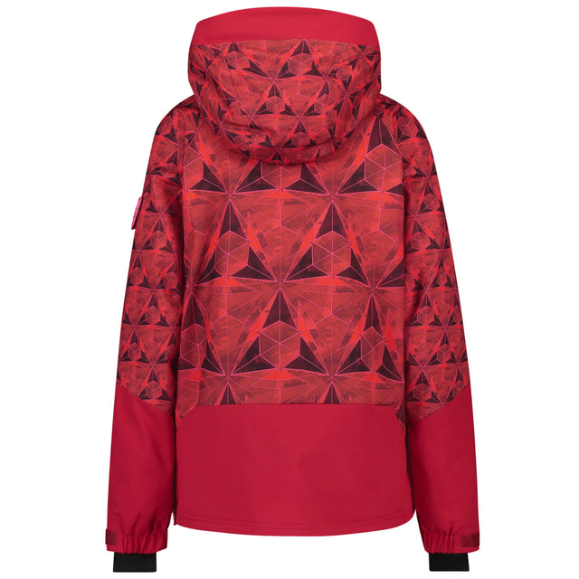 Womens O'Riginals Anorak Snow Jacket - Red AOP