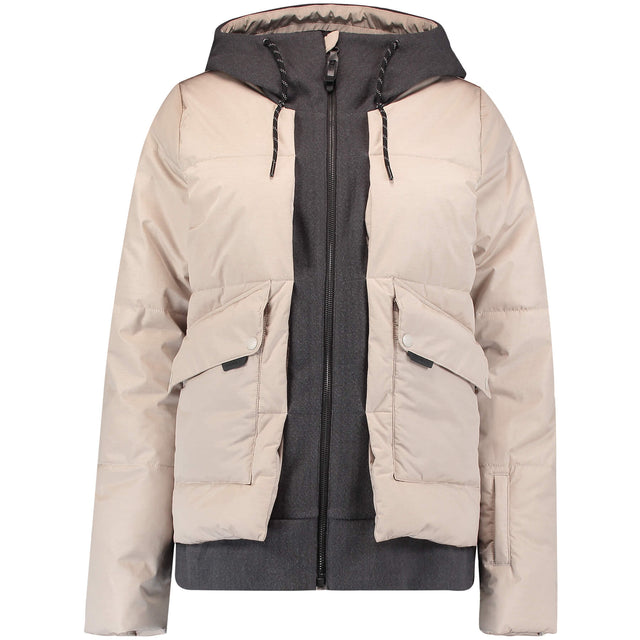 Womens Short Azurite Snow Jacket - Chateau Gray