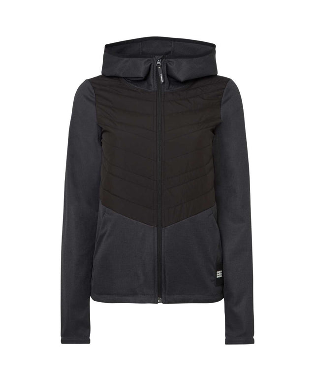 Womens Athmos Baffle Mix Snow Fleece - Black Out