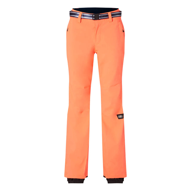 Womens Star Slim Snow Pants - Fiery Coral