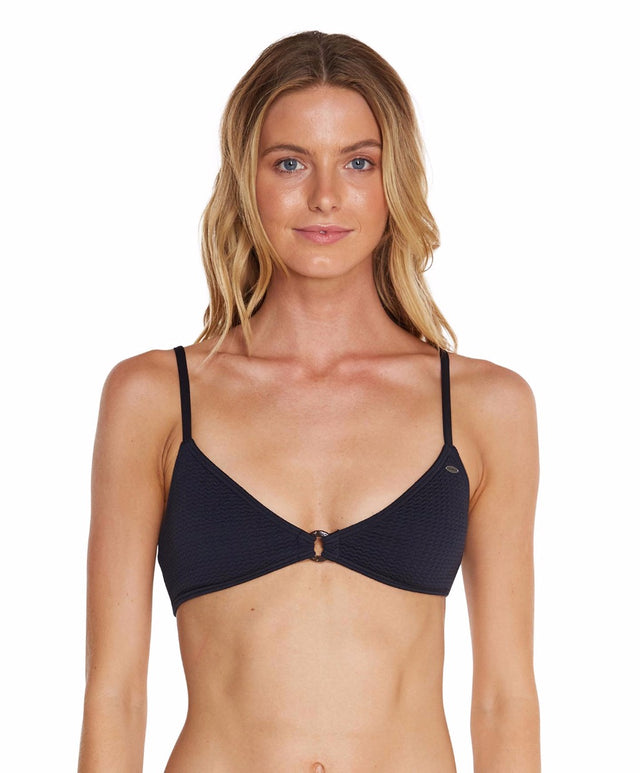 Locket Bikini Top - Black