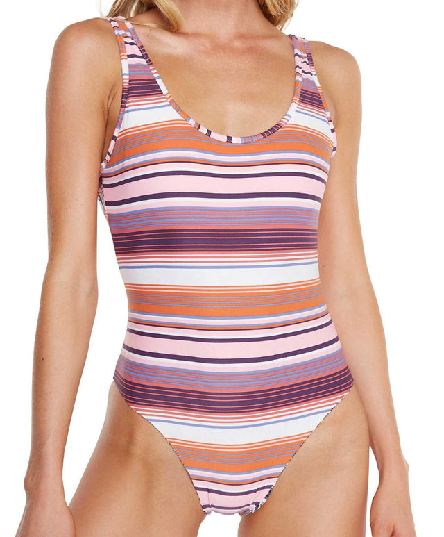 Cabo Reversible One Piece Swimsuit - Mexi Stripe