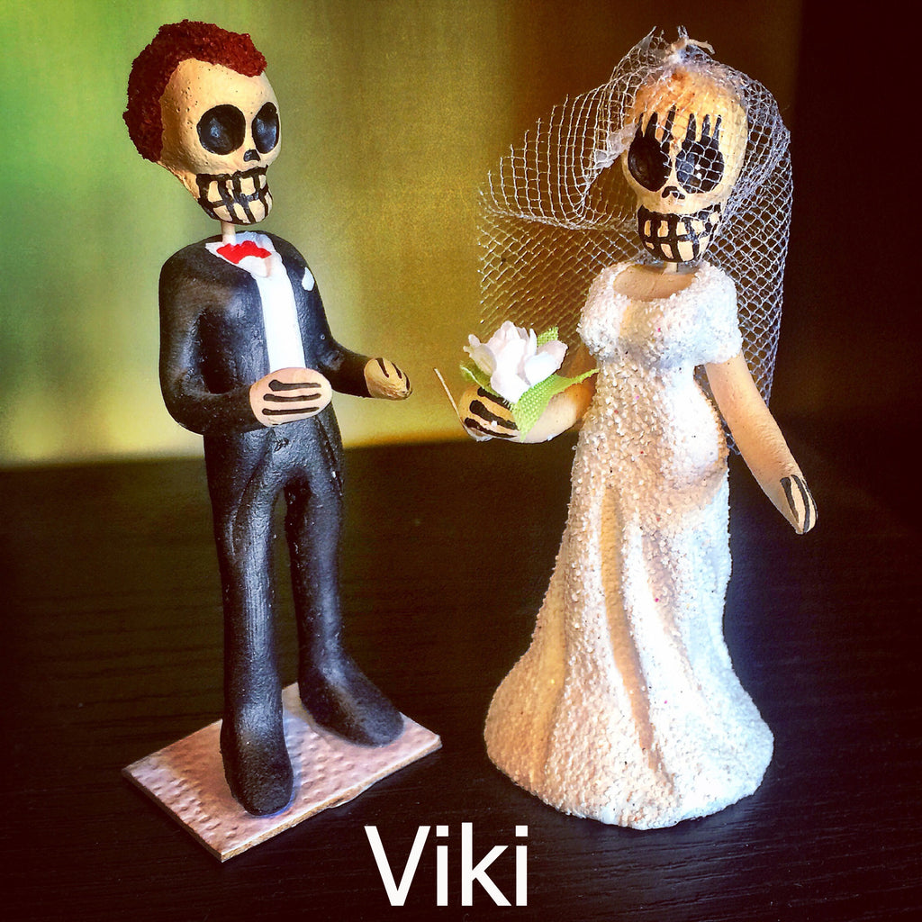 Day of the Dead Bride and Groom Figures / Cake Toppers, Viki