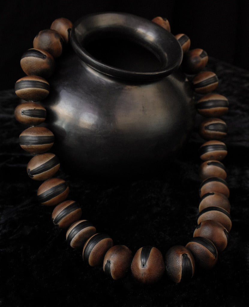 Handmade authentic ojo de venado seed necklace