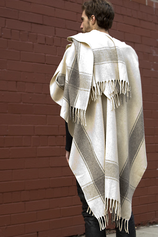 Classic Poncho, Long with Fringe, Unisex