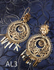 Handmade authentic filigree costume jewelry round design AL3