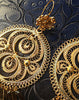Handmade authentic filigree costume jewelry round design detail