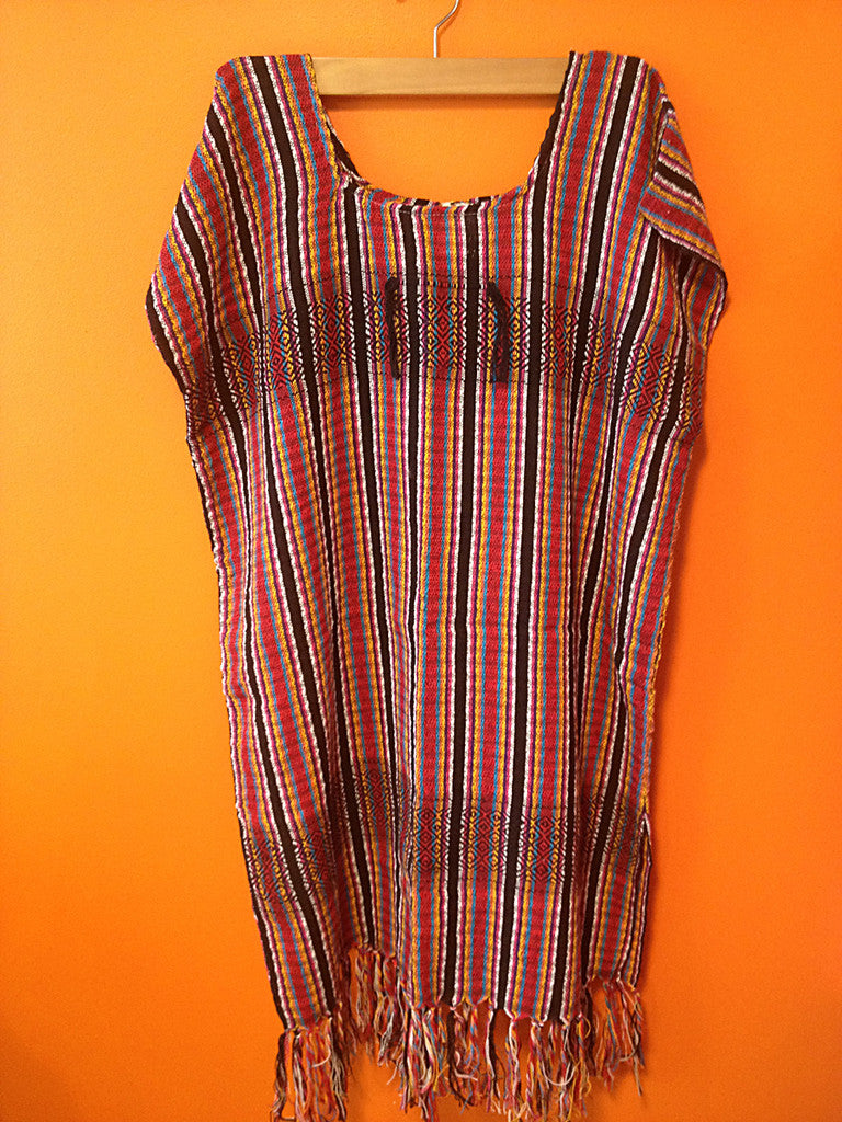 Handmade cotton tunic with stripes