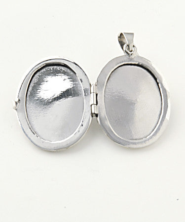Luxury madonna .925 silver locket open without pictures