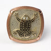 Brass and Copper Ring adjustable, Frog, design Temple de México