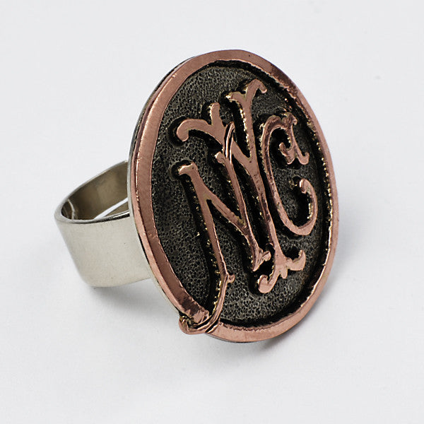 Temple de México Rings in Brass with Copper, NYC
