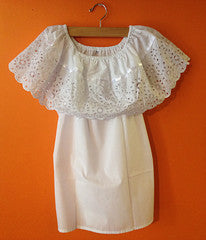 Authentic Mexican Peasant blouse with openwork embroidery