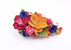 floral spray magenta yellow lillys hair accessory