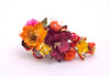floral spray yellow magenta lillys hair accessory