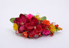 floral spray magenta red lillys hair accessory