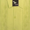 Guayabera Rejilla 100% Cotton Apple Green
