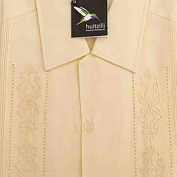 Guayabera Rejilla 100% Cotton Natural