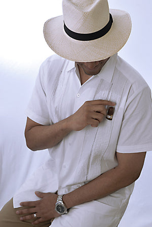 Huitzilli Guayabera Extra Tall Short Sleeve with Cigar Pocket, detail