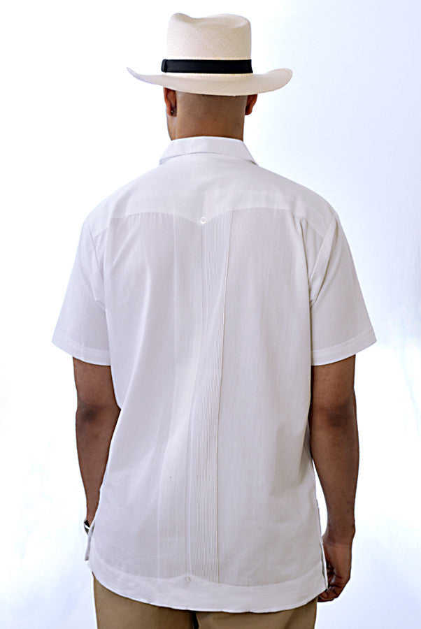 Guayabera Huitzilli, Extra Tall, Rejilla, Short Sleeve, back view