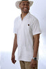 Guayabera Extra Tall, Rejilla Short Sleeve, 100% Cotton front view