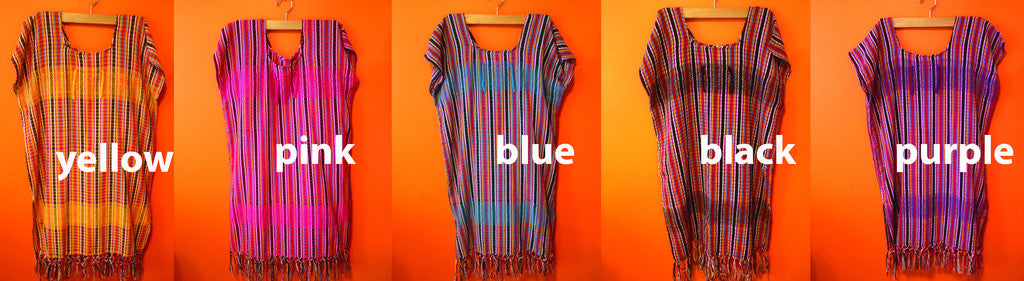 Handmade cotton tunic with stripes colors