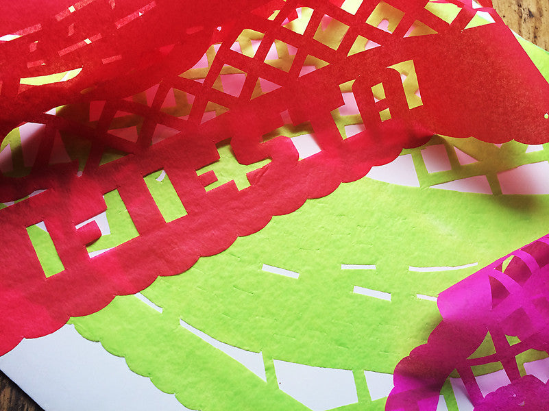 papel picado Mexican cut tissue paper party decoration
