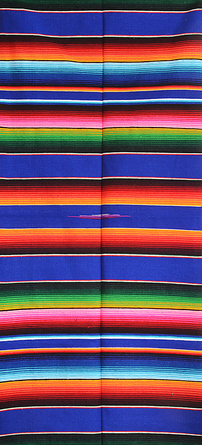 sarape saltillo Mexican striped blanket traditional cobalt