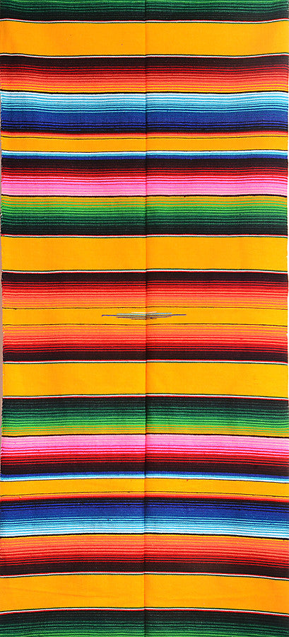 sarape saltillo Mexican striped blanket traditional yellow