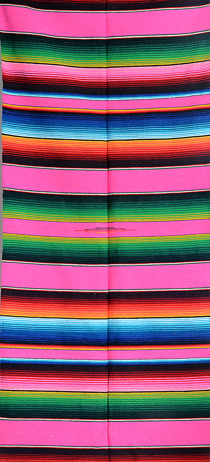 sarape saltillo Mexican striped blanket traditional pink