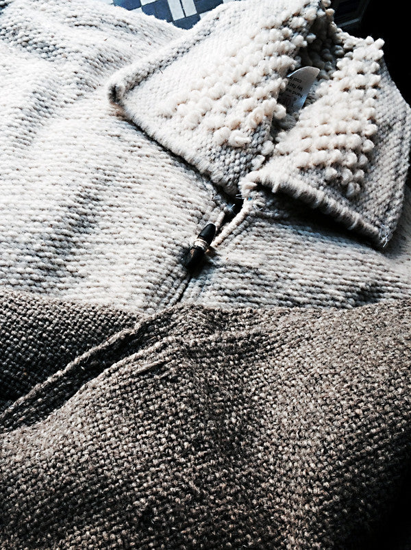 Handmade wool vest grey color