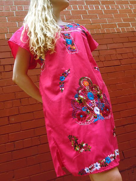 Authentic handmade embroidered Mexican Peasant dress