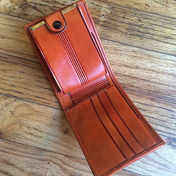 Handmade Mexican Leather Bi-fold Wallet, Interior