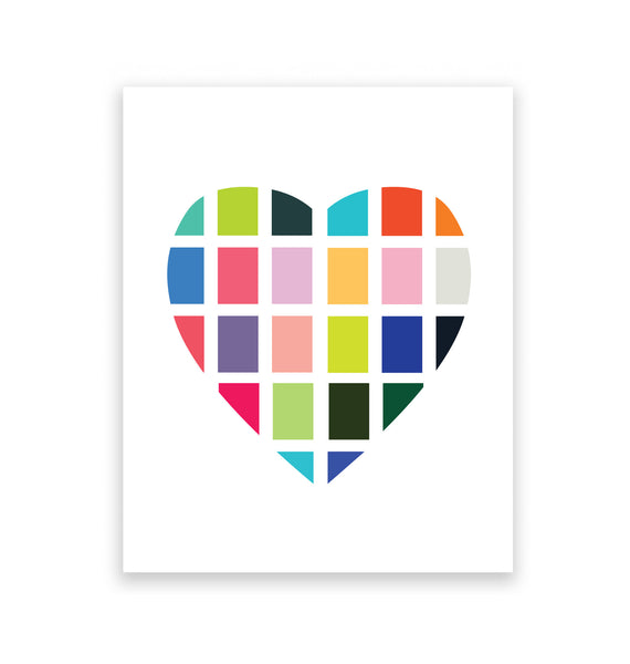 Digital Heart Art Print