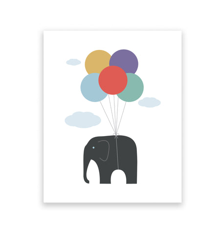 Flying Elephant Art Print