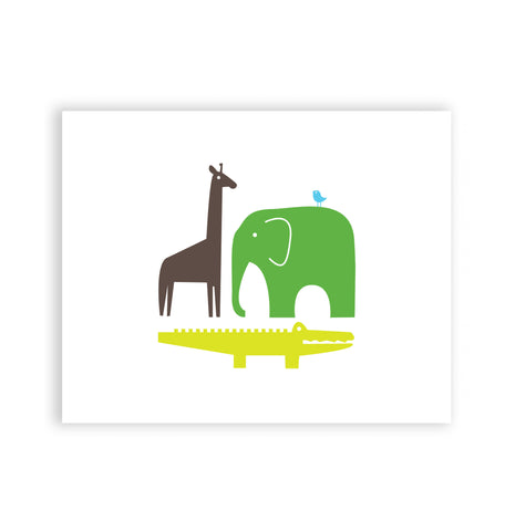 Jungle Safari Art Print