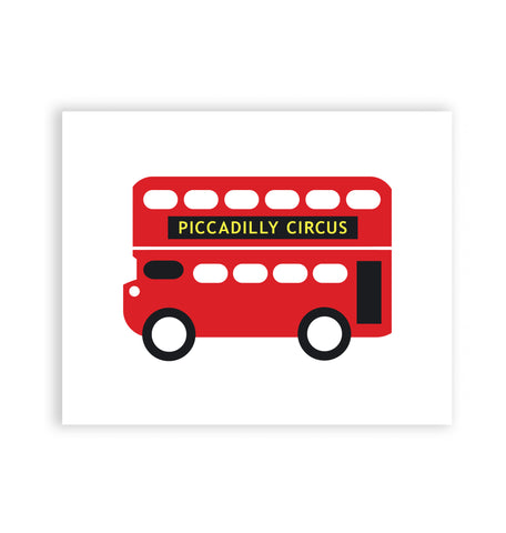 Piccadilly Circus Bus Art Print