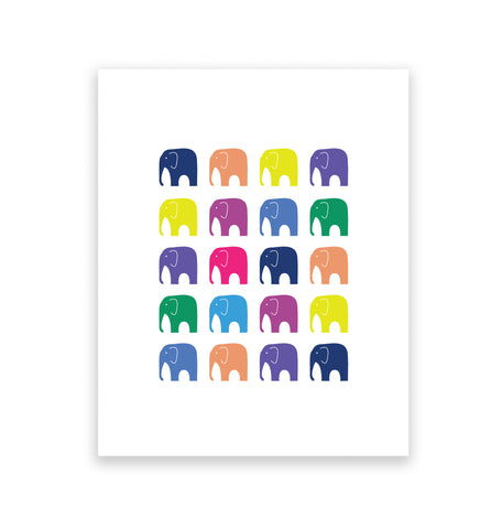Marching Elephants 1 Art Print